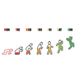 Weekly working life evolution battery man vector image vector image