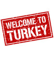 welcome to turkey stamp vector image vector image