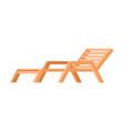 wooden lounger deck chair garden or beach vector image