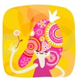 Yellow and pink princess portrait vector image vector image