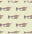 background with musical instrument trumpet vector image