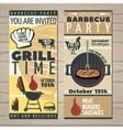 BBQ Time Invite Flyer vector image