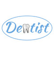 dental logo template flat design vector image