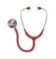 Realistic medical stethoscope phonendoscope vector image