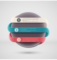 Round infographics banner vector image