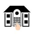 pictogram home security control access password vector image