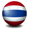 A soccer ball with the flag of Thailand vector image