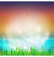 Abstract background with grass design for print vector image vector image
