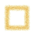 abstract gold sand dust glitter frame square vector image vector image