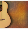 abstract grunge music background with guitar on vector image vector image