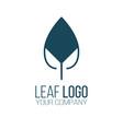 abstract leaf logo icon design landscape design vector image vector image