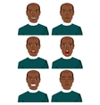 african american man with different expressions vector image vector image