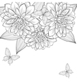 background with frame dahlia vector image