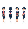 beuaty woman in cute suit vector image vector image