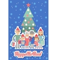 Big happy family with Christmas gifts in hands vector image vector image