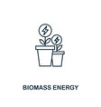 biomass energy icon outline style premium vector image vector image