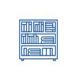 bookcase line icon concept bookcase flat vector image vector image