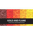 brick pattern set gold and flame seamless brick vector image vector image