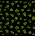 cannabis seamless pattern marijuana leaf green vector image