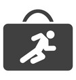career case flat icon symbol vector image