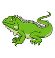 cartoon iguana lizard vector image vector image