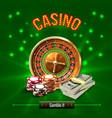 casino realistic concept vector image vector image