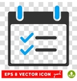 Check Items Calendar Day Eps Icon vector image vector image