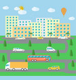 City town landscape life vector image vector image