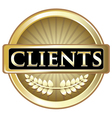 Clients Gold Label vector image vector image