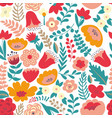 colorful floral pattern seamless pattern vector image vector image