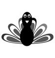 comic turkey silhouette vector image