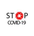 coronavirus 2019-ncov corona virus icon red sign vector image vector image