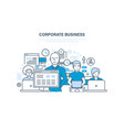 corporate business concept business team vector image vector image