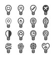 creative light bulb icon vector image vector image