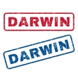 Darwin Rubber Stamps vector image vector image