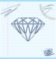 diamond line sketch icon isolated on white vector image