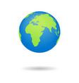 earth globus map 3d globe icon world symbol vector image vector image