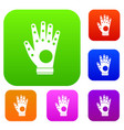 electronic glove set collection vector image
