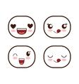 Face design Icon set Expression vector image