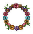 flowers wreath flora vector image vector image