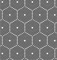 Gray small hexagons forming big hexagons vector image vector image