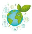green globe design vector image vector image