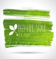 Green hand-drawn banner - eco background vector image vector image