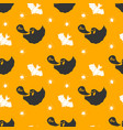 Halloween seamless pattern hand drawn sketched