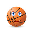 Happy basketball ball vector image vector image