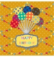 Happy birthday card Celebration background with vector image vector image