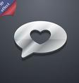 Heart icon symbol 3D style Trendy modern design vector image