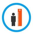 Height Meter Rounded Icon vector image vector image