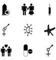 hiv icon set vector image vector image