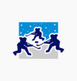 ice hockey game sports logo vector image vector image